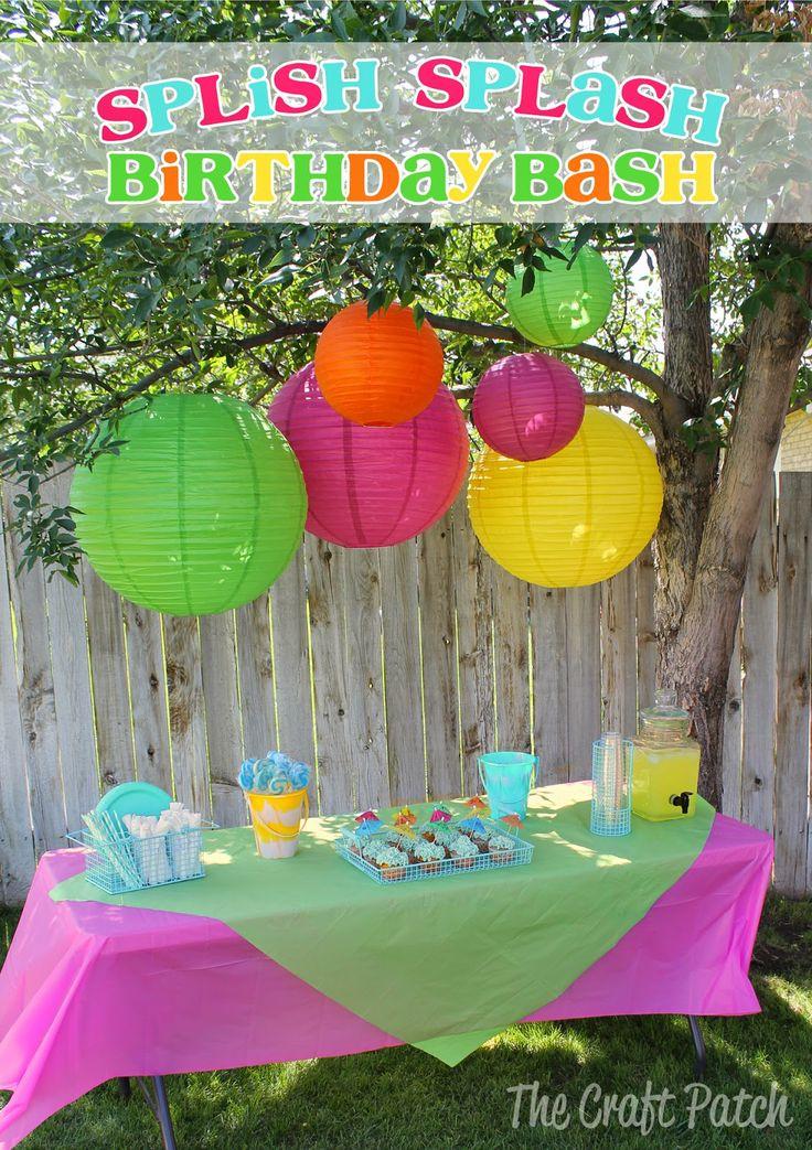 Splish Splash Birthday Bash. Fun party ideas