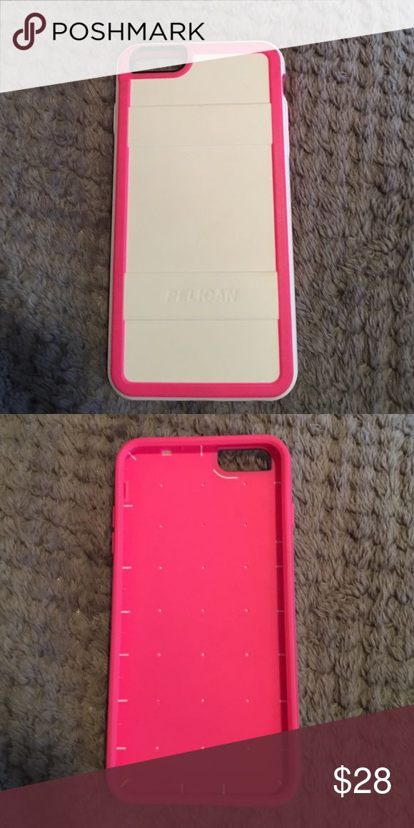 I phone 6 plus white/pink phone case I phone 6 plus white/pink phone case, NWOT, brand new, never used Pelican Accessories Phone Cases