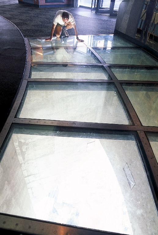 CN Tower 39 S Glass Floor Was On This Floor Totally Freaked Me Out And