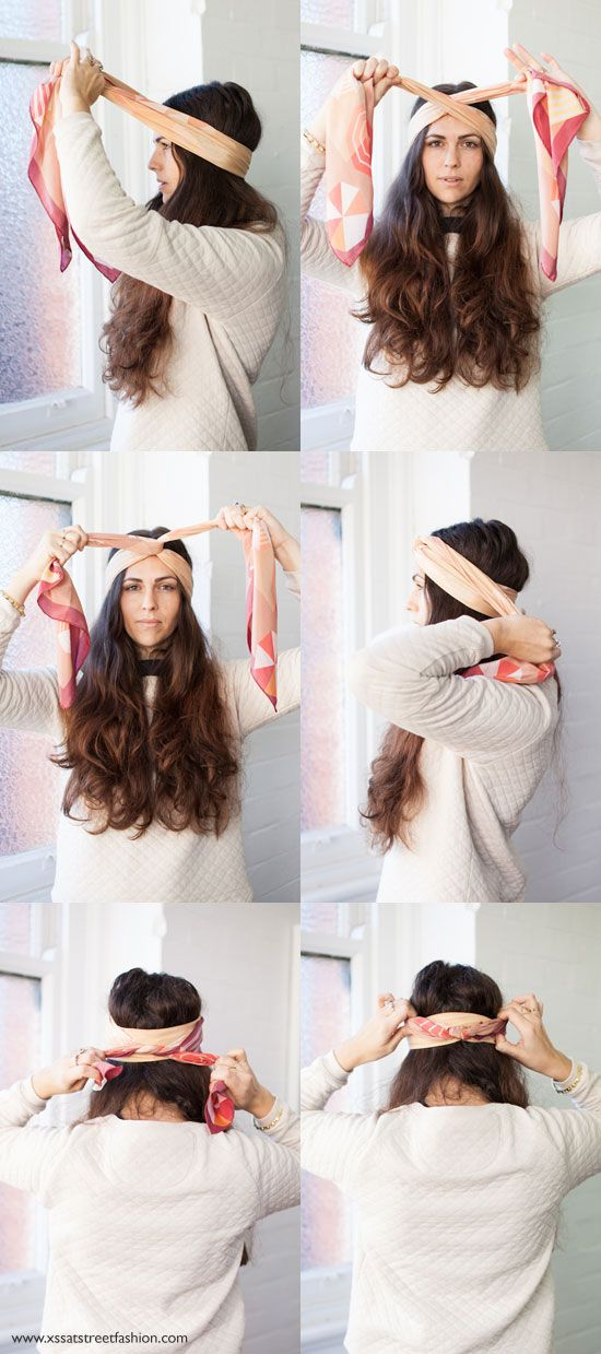 how to wear a scarf with benah - and how amazing is Brenda's hair!