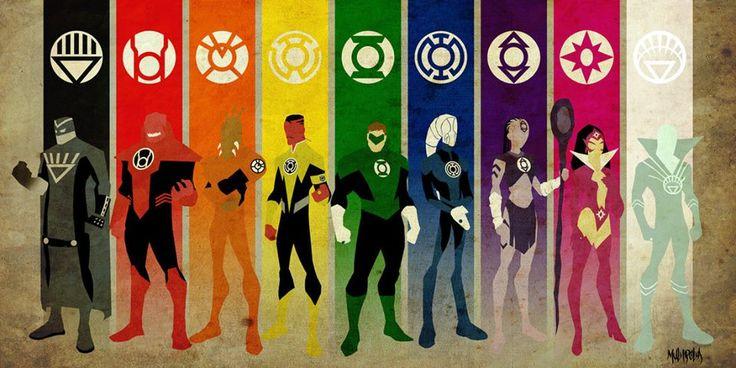 Os Lanternas são divididos em tropas e cada uma possui uma bateria de poder cujo é ligada a alguma emoção que se torna característica de sua tropa. Abaixo cada uma das tropas:  Lanternas Verdes (Vontade) Lanternas Amarelos (Medo) Safiras Estrelas (Amor) Lanternas Azuis (Esperança) Tribo Índigo (Compaixão) Lanternas Vermelhos (Raiva) Lanternas Laranjas (Avareza) Lanternas Negros (Morte) Lanternas Brancos (Vida)