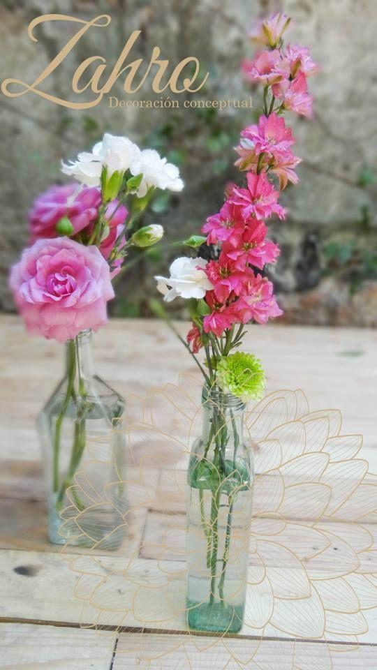 Detalles en botella /flores