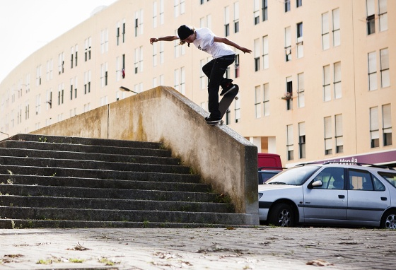 Tom Asta Backside Noseblunt, Portugal.  Chad Foreman Photography.