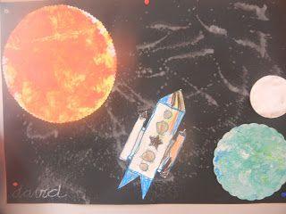 Welkom op de blog van kleuterschool Tichelrij: In de ruimte - juf An