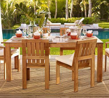 Madera Teak Rectangular Extension Dining Table