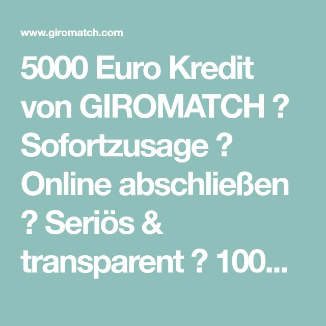 5000 Euro Sofort