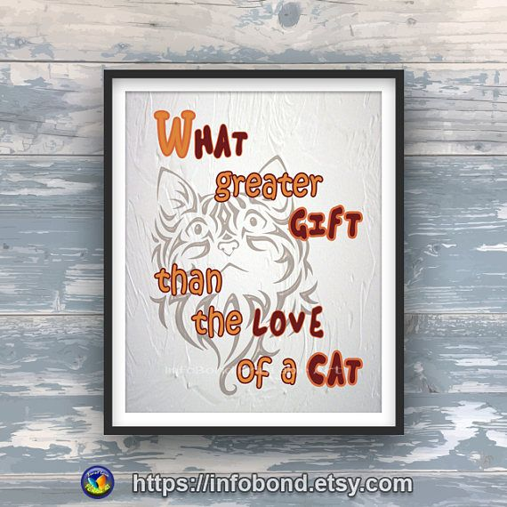 COUPON DISCOUNT Printable cat quote Cat wall art Funny cat