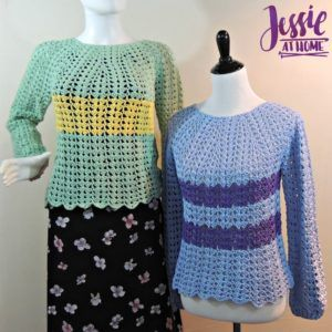 FREE crochet pattern for the Best Friend Sweaters by Jessie At Home.