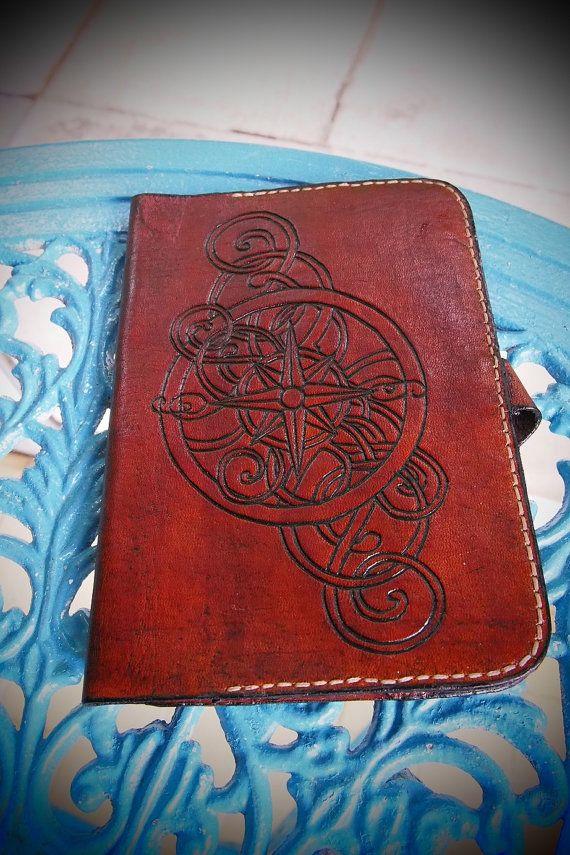 steampunk kindle leather case kindle by PocillatorWorkshop on Etsy