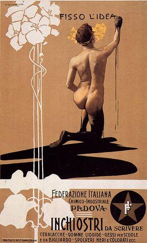Marcello Dudovich - Fisso l'idea, 1899, via Flickr.