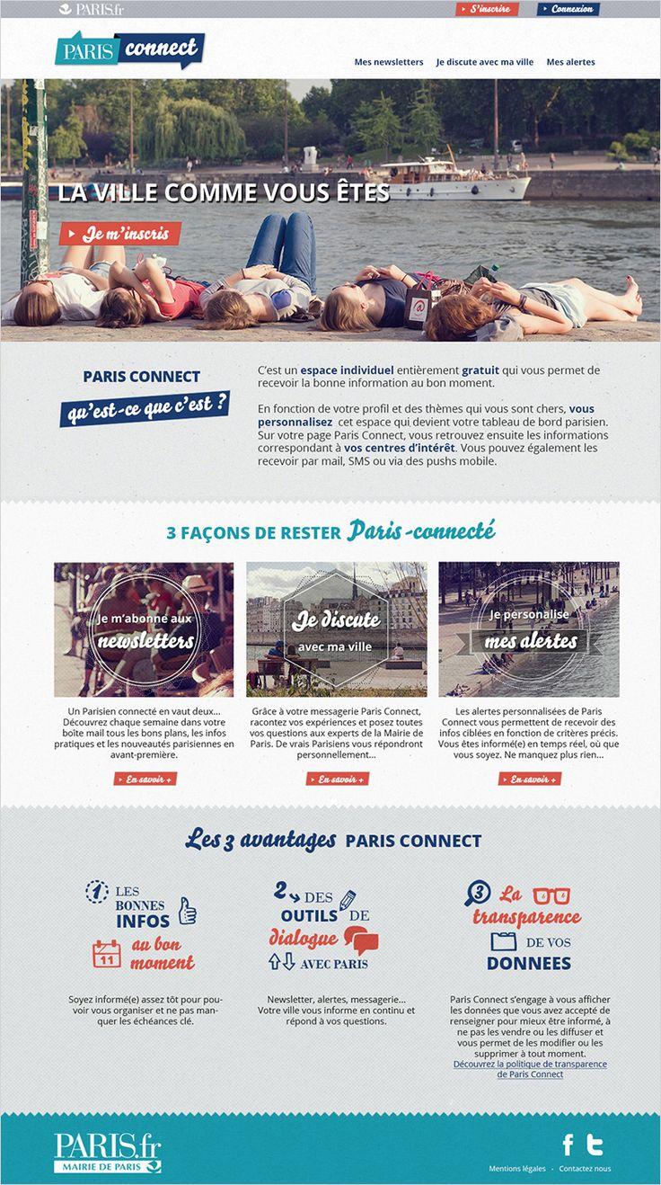 MAIRIE DE PARIS - Directeur artistique web & mobile freelance / Graphiste - Paris- Responsive design