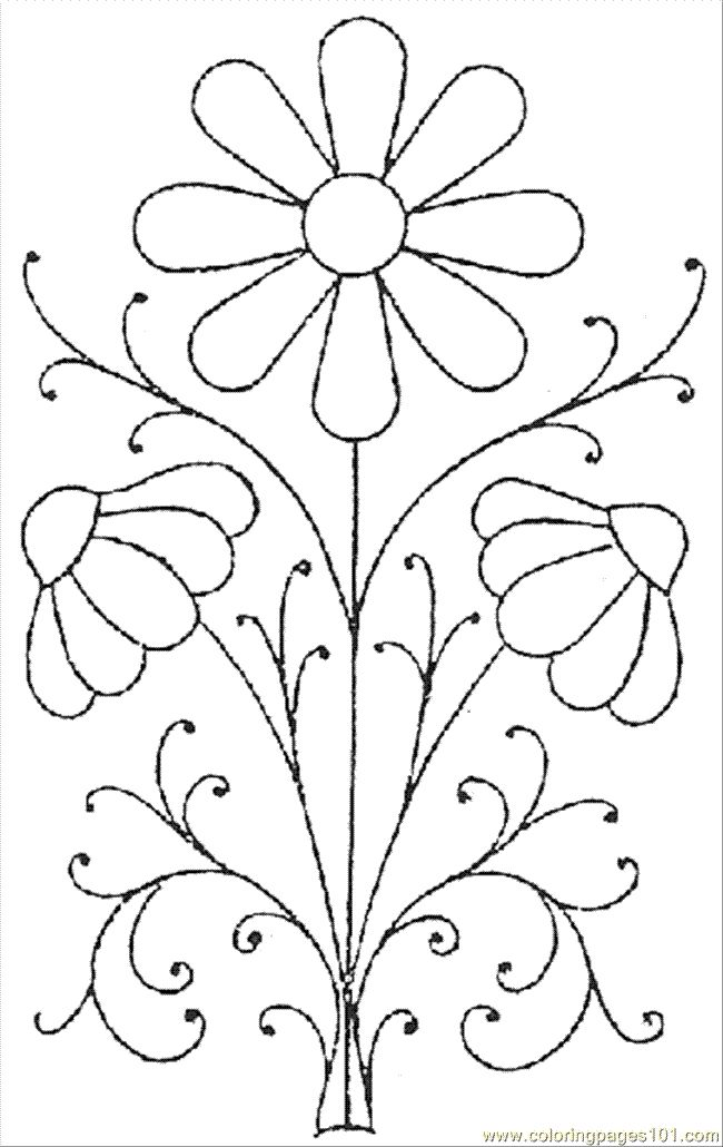 Embroidery pattern pretty daisies hand free