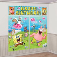SpongeBob Party Supplies- Party City $5 for this 8ft tall!!! :D  Anya will love this!