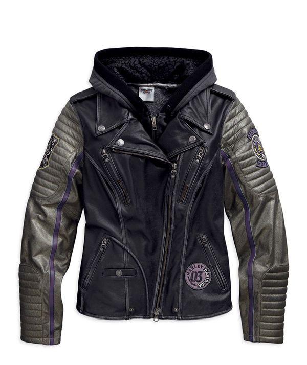 Harley Davidson Wome Ns Speedy 3in1 Distressed Black Leather Jacket 97048 15vw L Ebay Harley Leather Jackets Distressed Leather Jacket Leather Jacket