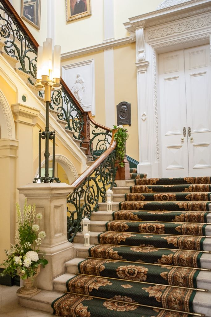 Sweeping Victorian staircase of Number 6 Kildare Street in Dublin