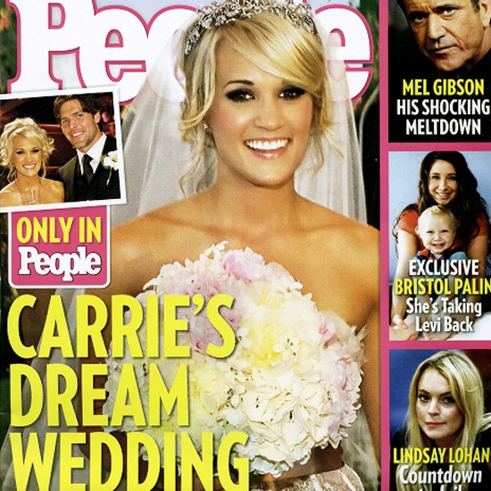 Carrie Underwood posed for a July 2010 People magazine cover following her luxurious country wedding.