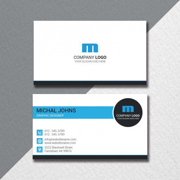 Flat Business Card Template Business Card Template Card Template Templates