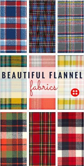 Flannel and Plaid: Fall Essentials. Find hundreds of beautiful fabrics at great great prices here: www.fabric.com