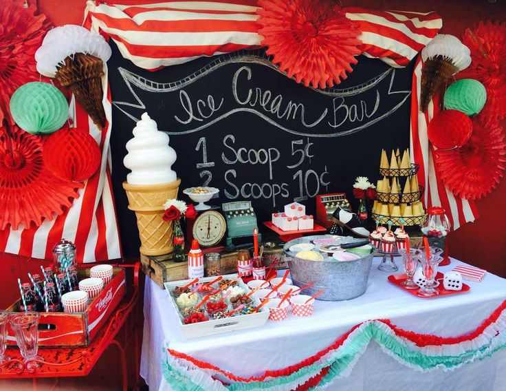 "Ice Cream  / Summer ""Ice Cream Shoppe"" | Catch My Party"