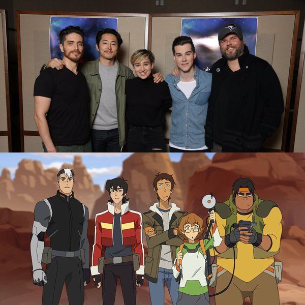 "jeremy shada on Twitter: ""The Paladins of #Voltron! Squad goals met."" - Team Voltron"
