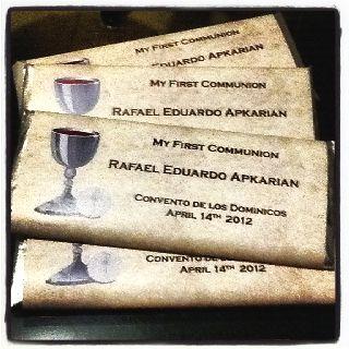 1st communion favors!