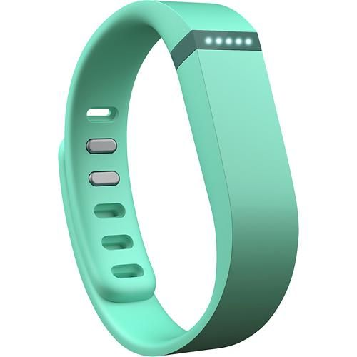 Fitbit - Flex Wireless Activity Tracker + Sleep Wristband - Teal - Angle