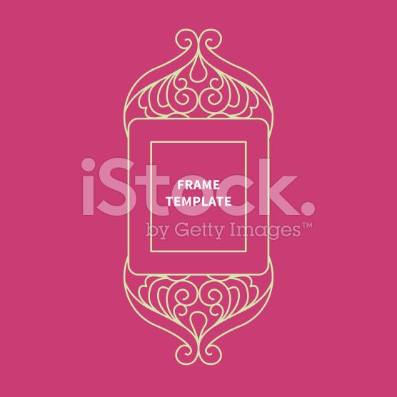 Decorative vector monogram for design, line art frame. royalty-free stock vector art