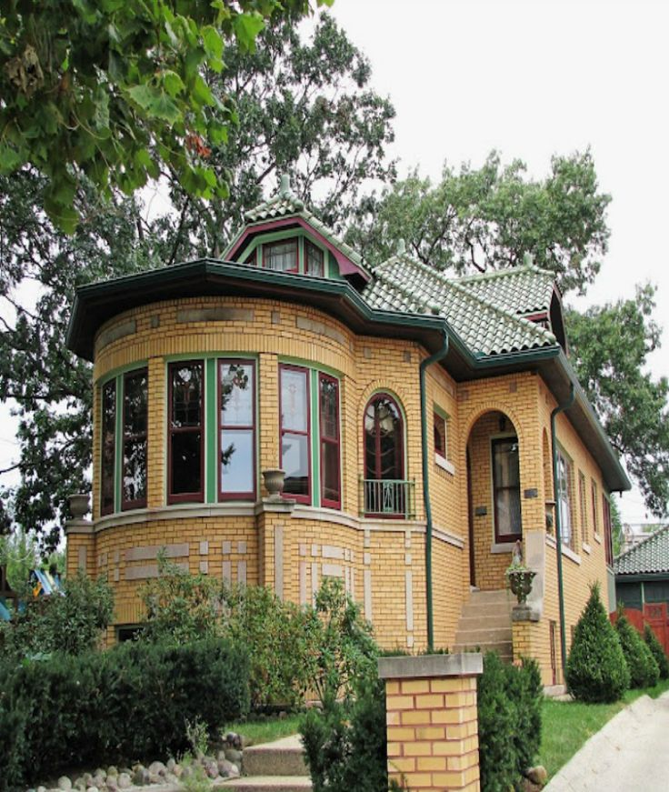 Chicago bungalow style brick house