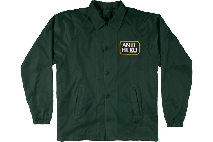 ANTIHERO RESERVE PATCH COACH'S JACKET GREEN