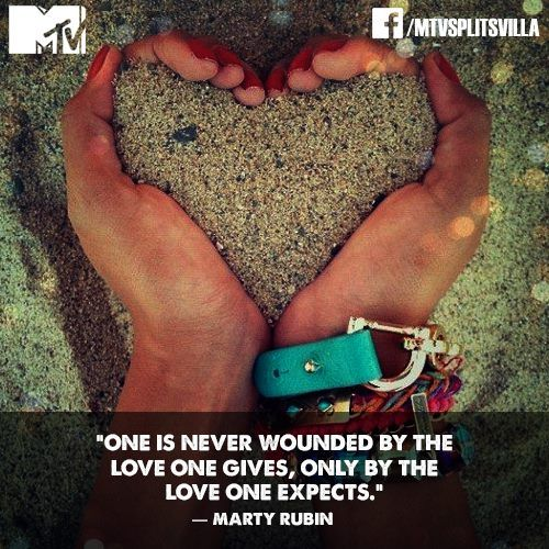 Enjoy viewing this photo MTV Splitsvilla #LOVE #QUOTE of the day! on MTV Splitsvilla Channel in Tv show Category. This is a added photos by MTV Splitsvilla on Facebook and got 6133 likes and 401 shares.