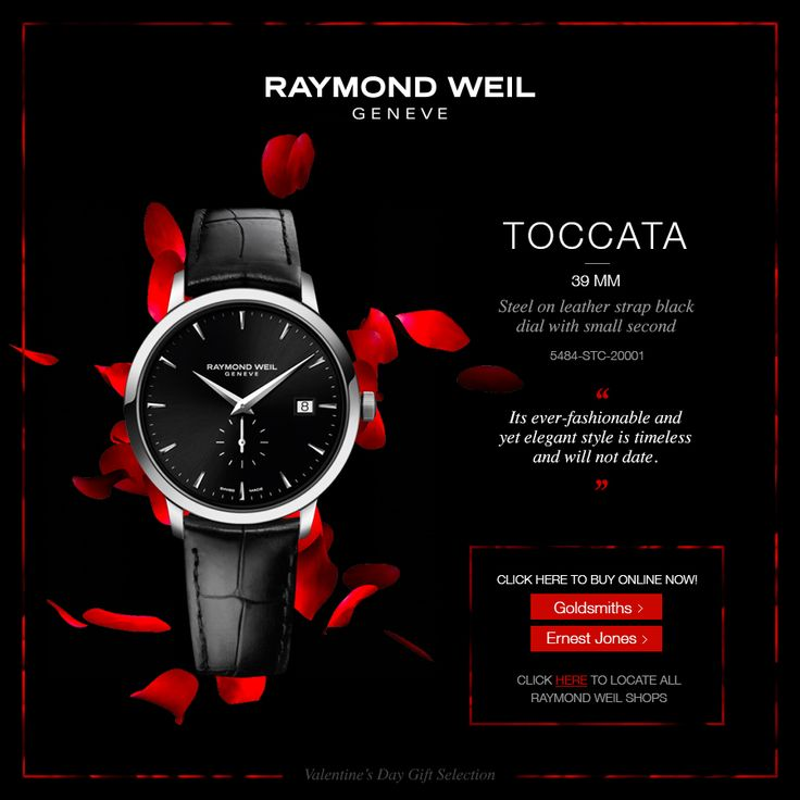 The 39mm Toccata ever-fashionable and yet elegant style is timeless and will not date (ref: 5484-STC-20001)  Check our collection at our official retailers!  Goldsmiths - http://rwg.li/1zzv39S Ernest Jones - http://rwg.li/1xE8LOA