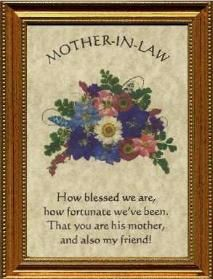 Sweet Mother In Law Poems With Pictures Mother In Law Plaque