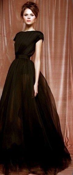 Negro largo elegante