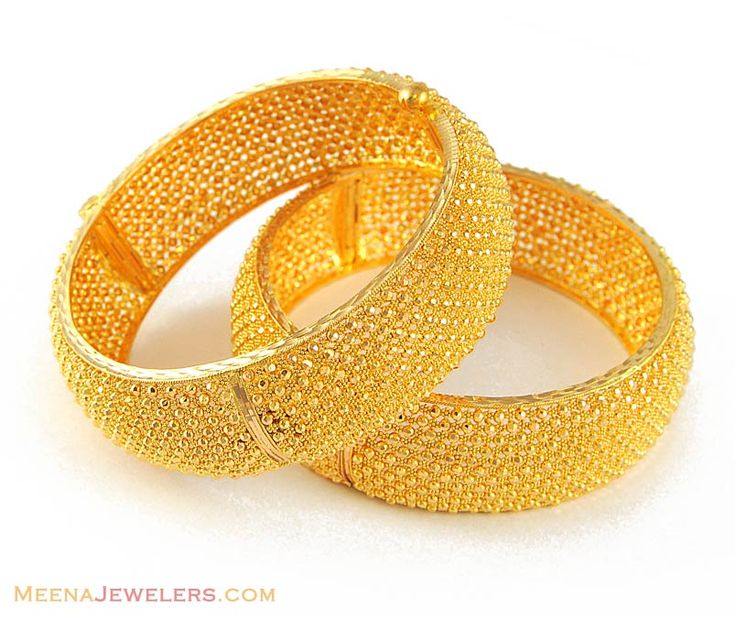 22K Gold Jewelry Designs | 22K Gold Wide Bangle (Kara) ( Kadas )