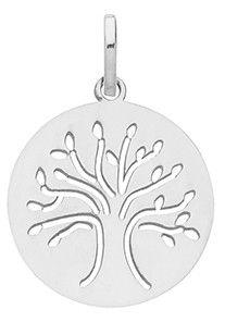 Médaille de bapteme ARBRE DE VIE en Or blanc | Cadeau bapteme & de naissance | Collection Enfant & Bébé, en vente sur TERREDEBIJOUX.COM