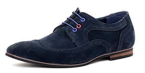 Oferta: 35.73€. Comprar Ofertas de Hombre Vestido Zapatos De Boda Elegante Oficina De Vestir Con Cordones Trabajo Talla UK - hombre, Azul marino/Ante, 9 UK / 43 barato. ¡Mira las ofertas!