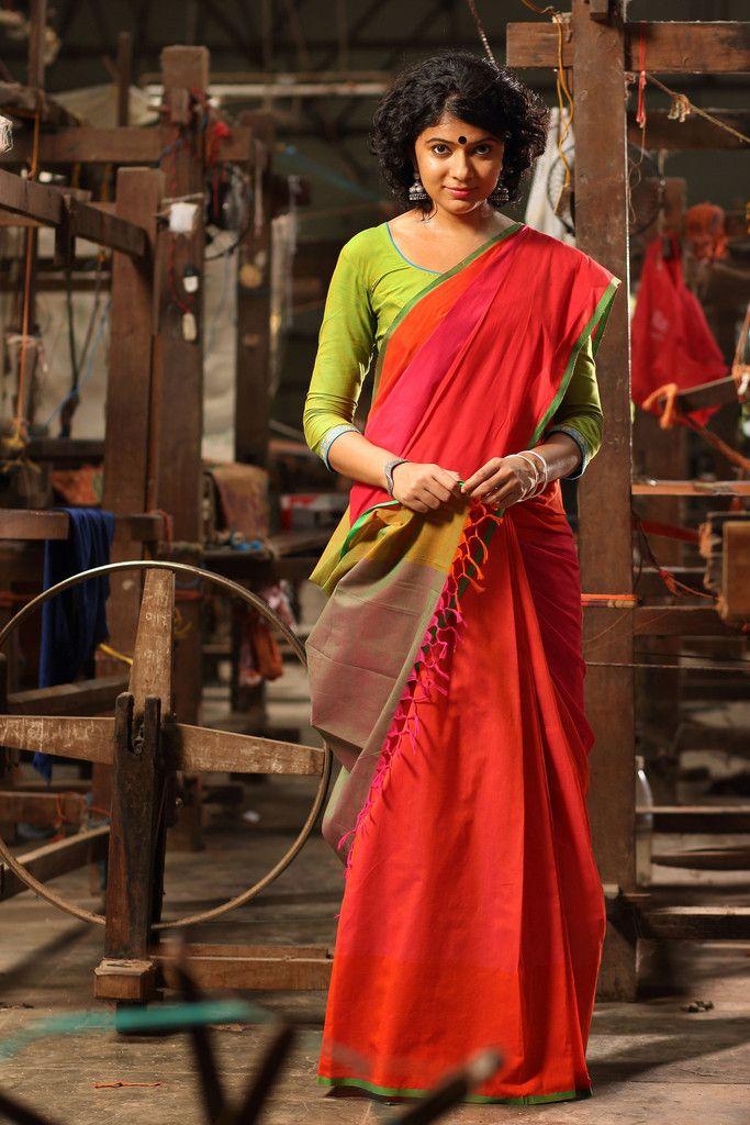 Naalumani poovu` Kaithari saree