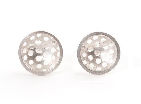 'Sieve cufflinks' by Jin ah Jo  Sterling silver'  Available in store and online   http://egetal.com.au/store/product/JAJ018