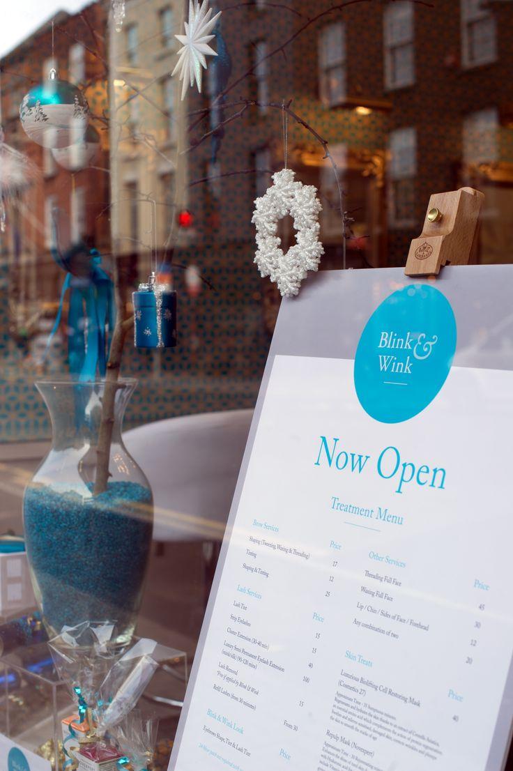 Blink & Wink treatment menu