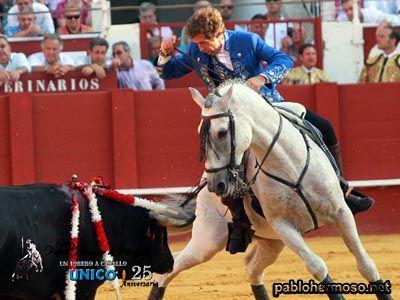 Máxima expectación entre los aficionados que llenaron el coso de La Malagueta y que disfrutaron de lo mejor de las tauromaquias de José Tomás y Pablo Hermoso de Mendoza, de tres lecciones de torear a pie y tres lecciones de torear a caballo. http://bit.ly/1oX2ldz