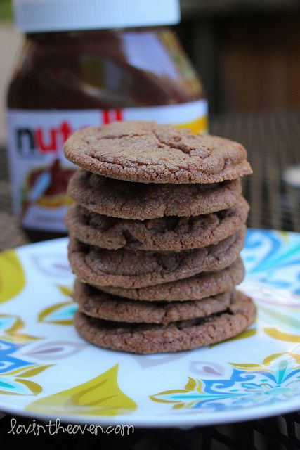 Chewy Nutella Cookies (uses more ingredients than others; compare to the other Nutella cookie recipes)