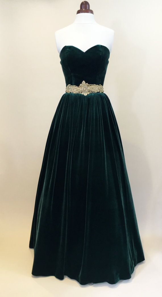 vintage, green ball gown.                                                                                                                                                                                 More