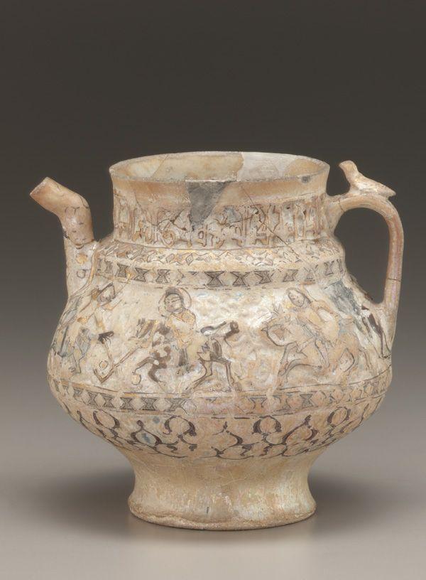 Pitcher  late 12th-early 13th century      Saljuq period     Glazed clay, Iran
