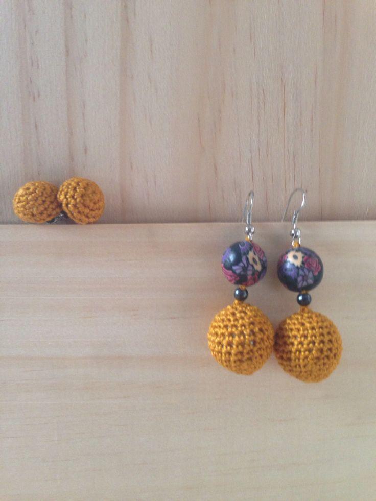 Mustard earrings