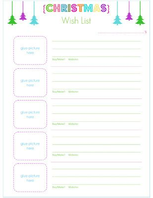 8 best Christmas Printables images on Pinterest Christmas ideas - printable christmas list template