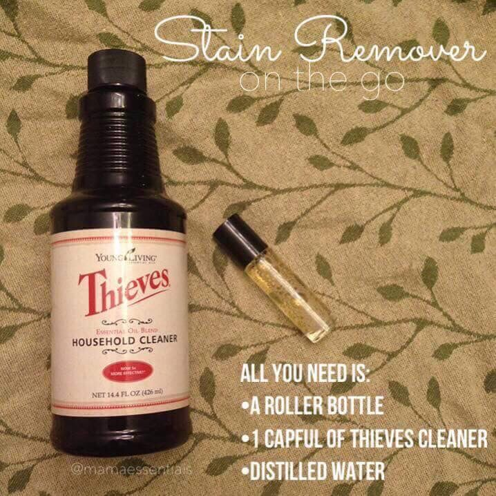 Young Living Thieves Cleaner - Stain Remover on roller.