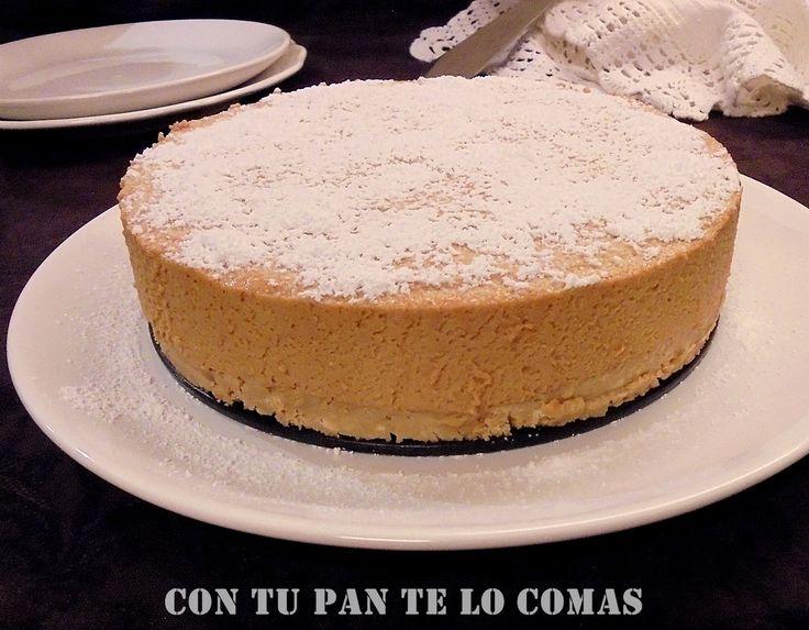 Con tu pan te lo comas: TARTA DE MOUSSE DE DULCE DE LECHE