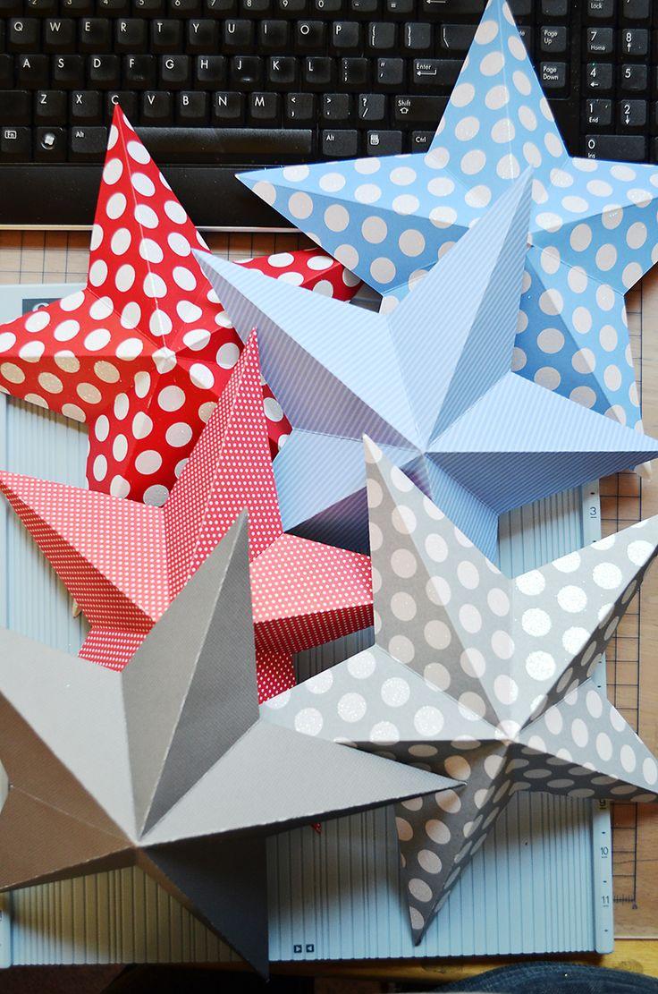Estrellas en 3D de papel para decorar