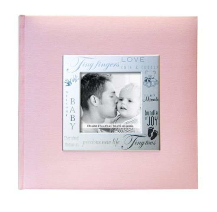 Baby Girl Photo Album Pink 200 Pocket 4x6 Inch Memory Picture Scrapbook Gift New #MCS