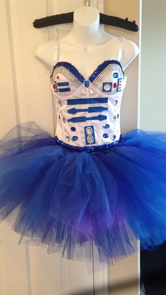 Star Wars R2D2 Costume Corset and Tutu by StaticThreads1 on Etsy